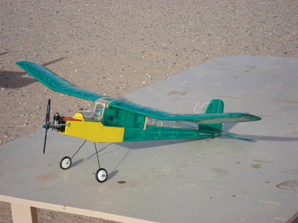Jerry Olsen's mini Butterfly with a 1955 .074 OK cub engine